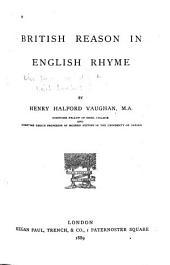 British Reason in English Rhyme