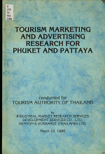 Tourism Marketing and Advertising Research for Phuket and Pattaya