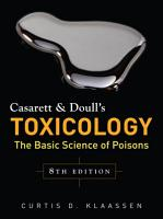 Casarett   Doull s Toxicology  The Basic Science of Poisons  Eighth Edition PDF