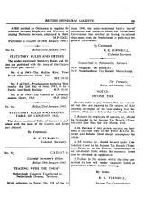 Government Gazette  British Honduras PDF