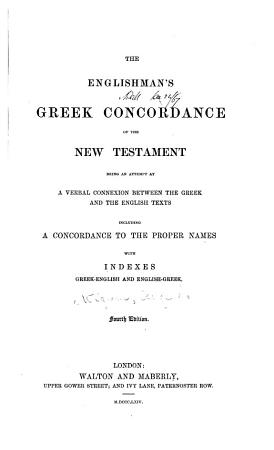 The Englishman s Greek Concordance of the New Testament PDF