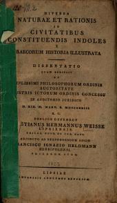 Diversa naturae et rationis in civitatibus constituendis indoles e Graecorum historia illustrata