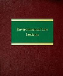 Environmental Law Lexicon Book PDF