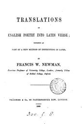 Translations of English Poetry Into Latin Verse