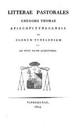 Litterae pastorales ad clerum Tynecensem