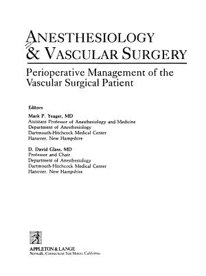 Anesthesiology   Vascular Surgery PDF