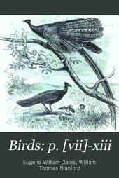 Birds: p. [vii]-xiii