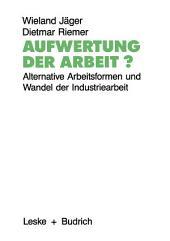 Aufwertung der Arbeit?: Alternative Arbeitsformen und Wandel der Industriearbeit