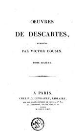 Oeuvres de Descartes: Volume6