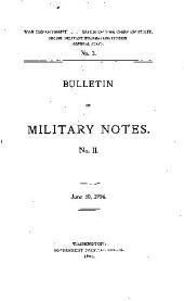 ... Bulletin of Military Notes: Issue 2