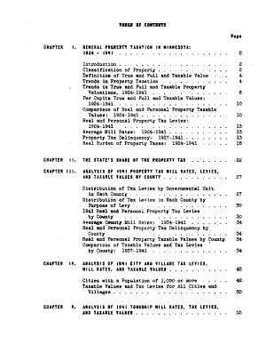 Minnesota Property Taxation  1924 1941