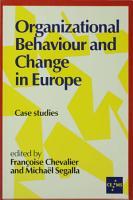 Organizational Behaviour and Change in Europe PDF
