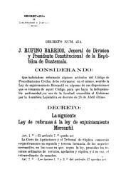 Ley de reformas a la ley de enjuiciamiento mercantil: 1882