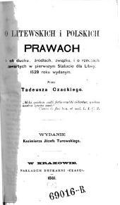O Litewskich i Polskich Prawach