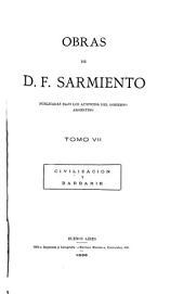 Obras de D. F. Sarmiento: Volúmenes 7-8