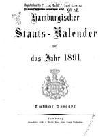 Hamburgischer staats kalender     PDF