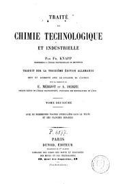 Traité de chimie technologique et industrielle: Volume2