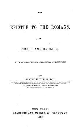 The Epistle to the Romans in Greek and English PDF