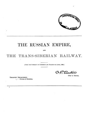The Russian Empire and the Trans Siberian Railway