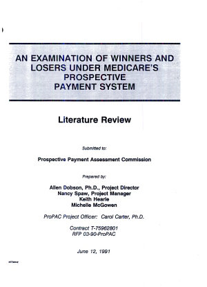 An Examination of Winners and Losers Under Medicare s Prospective Payment System
