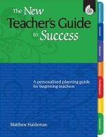 The New Teacher s Guide to Success PDF