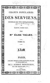 Chants populaires des Serviens: Volume2