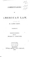 Commentaries on American Law PDF