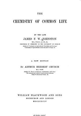 The Chemistry of Common Life PDF