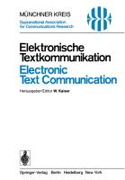Elektronische Textkommunikation   Electronic Text Communication PDF