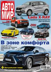 АвтоМир: Выпуски 1-2016