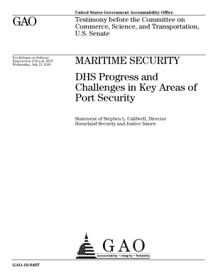 Maritime Security: DHS Progress and Challenges in Key Areas of Port Security