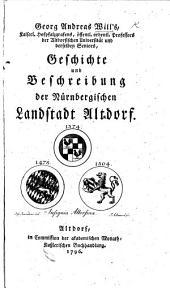 G. A. W.'s Geschichte und Beschreibung der Nürnbergischen Landstadt Altdorf