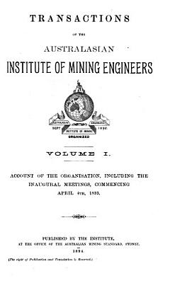 Transactions of the Australasian Institute of Mining Engineers PDF