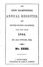 The New-Hampshire Annual Register, and United States Calendar: Issue 23
