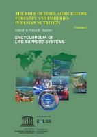 The Role of Food  Agriculture  Forestry and Fisheries in Human Nutrition   Volume I PDF