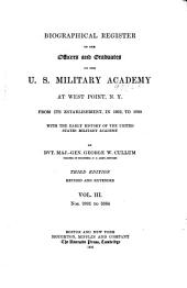 Biographical Register of the Officers and Graduates of the U.S. Military Academy at West Point, N.Y.: Nos. 2001-3384