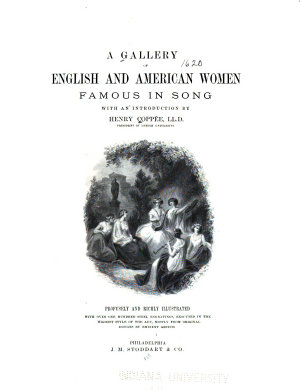A Gallery of English and American Women Famous in Song PDF