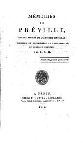 Mémoires de Préville ...