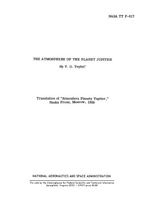 The Atmosphere of the Planet Jupiter PDF