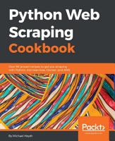 Python Web Scraping Cookbook PDF