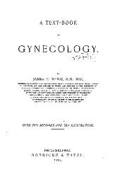 A Text-book of Gynecology
