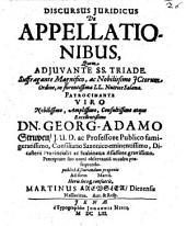 Discursus juridicus de appellationibus