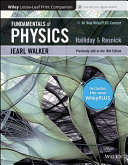 Fundamentals of Physics  WileyPLUS Card with Loose leaf Print Companion Set