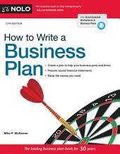 How to Write a Business Plan: Edition 13