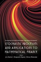 Stochastic Processes and Applications to Mathematical Finance PDF