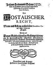 Von Rostauscherrecht: neun und achzig außerlesene decidirte Casus, und resolvirte Fragen ...