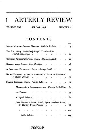 The New Mexico Quarterly Review