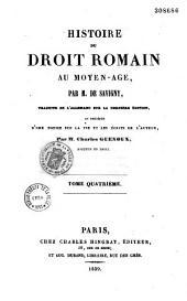 Histoire de droit romain au moyen-âge