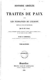 Abrégé de l'histoire des traités de paix entre les puissances de l'Europe depuis la paix de Westphalie