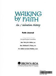 Walking by Faith Grade 6 Salvation History PDF